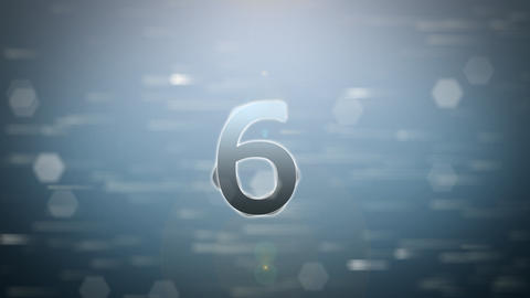 Countdown Rotate In The Rain Falling With Modern R stock footage