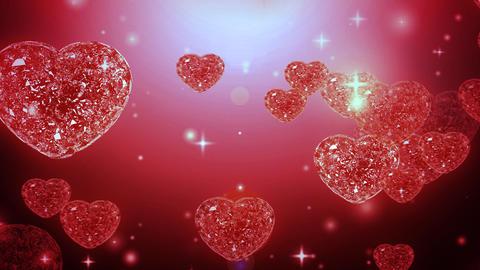 Loop able Valentine Diamonds Heart Animation
