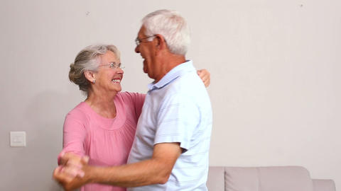 Senior Couple Dancing Together stock footage
