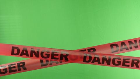 4K Moving Danger Warning Tape Overlay Alpha Channe Footage