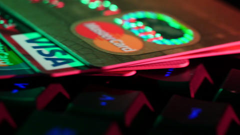 4K UHD Footage Online Payments Credit Cards on Key Footage