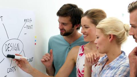 Creative team having a briefing Footage