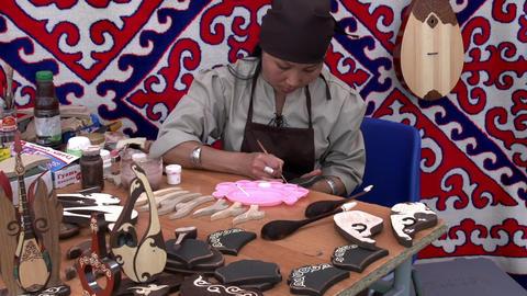 Master Paints Patterns Souvenirs stock footage