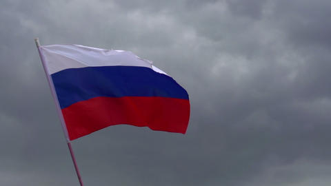 Flag of Russia Footage
