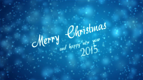 Merry Christmas Greeting stock footage