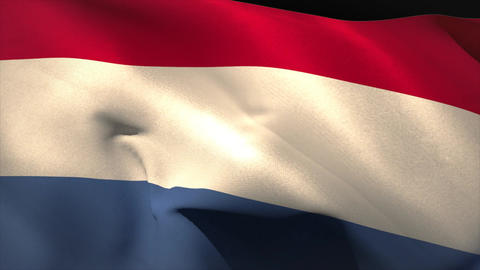 Digitally generated netherlands flag waving Animation