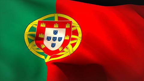 Digitally generated portugal flag waving Animation