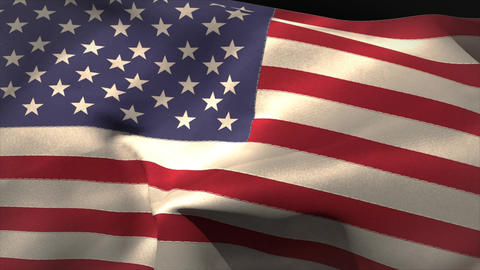 Digitally generated american flag waving Animation