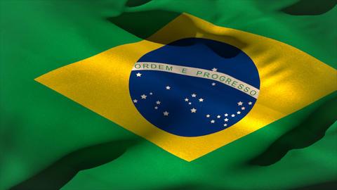 Digitally generated brazil flag waving Stock Video Footage
