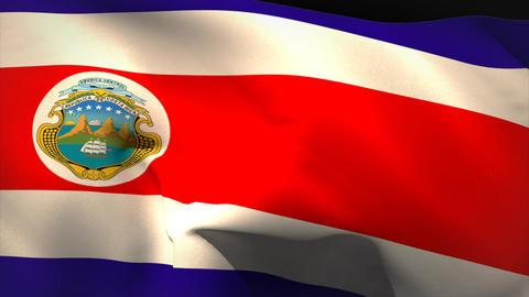 Digitally generated costa rica flag waving Animation