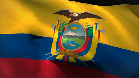 Digitally generated ecuador flag waving Animation