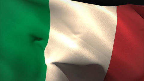 Digitally generated italy flag waving Animation