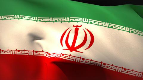 Digitally generated iran flag waving Animation