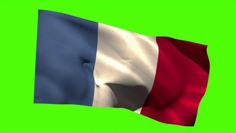 France national flag blowing in the breeze Animation