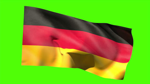 German national flag blowing in the breeze Animation