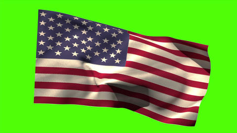 USA national flag blowing in the breeze Animation