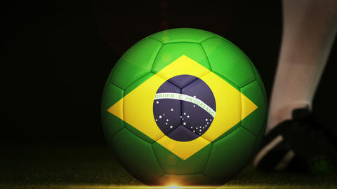 Football montage advertisement for brazil Animation