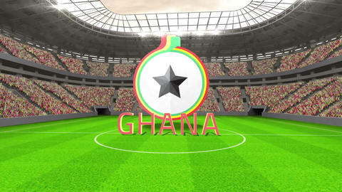 Ghana world cup message with badge and text Animation