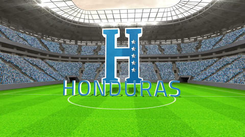 Honduras world cup message with badge and text Animation