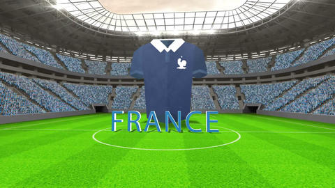 France world cup message with jersey and text Animation