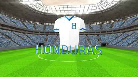 Honduras world cup message with jersey and text Animation