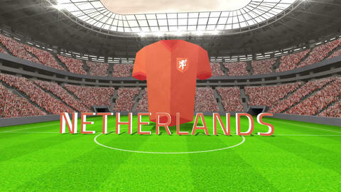 Netherlands world cup message with jersey and text Animation