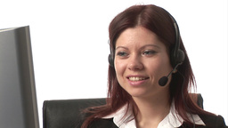Stock Footage of Woman on Headset Footage