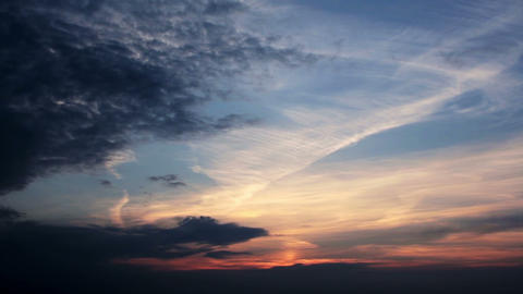 Dramatic Sunset Time Lapse HD Footage