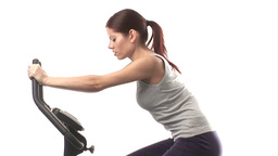 Woman working out Live Action