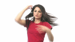 Stock Footage of a Woman Dancing Footage