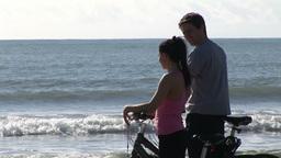 Couple Riding Bikes Footage
