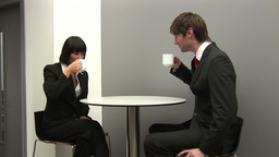 Business Colleagues having Coffee Together Footage