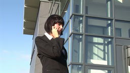 Woman talking on cellphone Footage