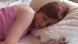 Woman Sleeping Footage