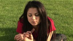 Woman Eating Chocolate Footage