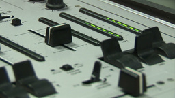 Person using a Mixing Desk Footage