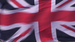 British Flag Blowing in the Wind Footage