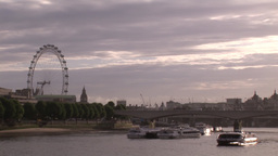 London City and Thames Rive 2 Footage