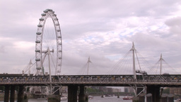 London City And Thames River 5 stock footage