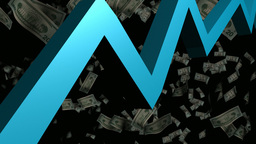3D Animated Graph with Money Animation