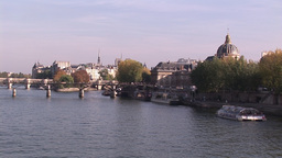 View of the River Seine in Paris Footage