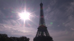 The Eiffel Tower in Paris Footage