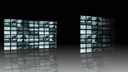 Large panels of TVs Animation