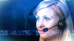 Woman on Headset Animation