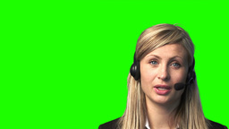 Chroma Key Footage of a Businesswoman Animation