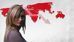 Woman Looking an Economic Gloom Animation