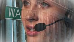 Wall Street Businesswoman on phone Animation
