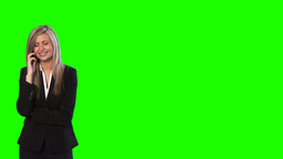 Green Screen Footage of a Businesswoman on the Phone Animation