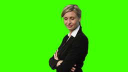 Chroma Key footage of a Confident Businesswoman Animation