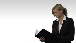 Young beautiful business woman holding file 5 Animation